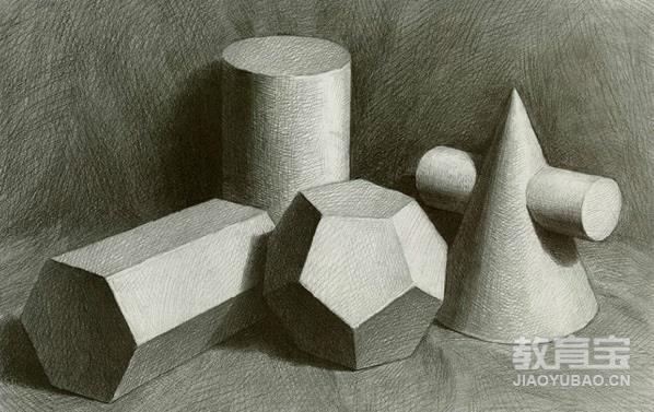 素描标准(三年级以上) 目标: 在西方造型艺术里,素描占据着极其重要的地位。素描能够建立整体观察事物的方法,了解形体空间,探索到事物构成的本质。在黑白灰的世界里,用朴素的绘画语言去表现具有深度空间,丰富的明暗关系,厚重的形体结构。 方法: 素描学习分为四个阶段的绘画训练。一、基础阶段了解透视构图等基本知识,临摹单一几何石膏体,石膏体组合,了解形体的明暗、光影和黑白灰。二、静物器皿临摹,写生。三、石膏像临摹,写生。四、五官及人物肖像临摹。 培养内容 素描是绘画的入门课,是构成油画、雕塑、建筑已经其它绘画的