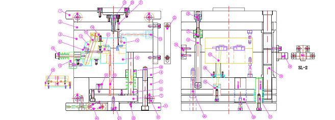 全套cad-2d模具结构排位