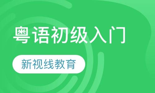 粤语初级入门课程