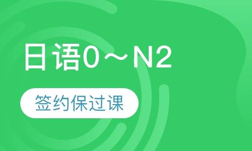 0~n2业余制签约保过日语培训班