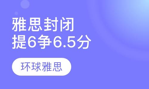 雅思封闭VIP提6争6.5分6人班