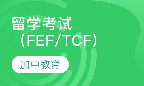 留学考试(FEF/TCF)