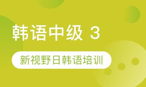 西安韓語中級 3